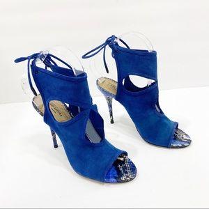 SALE 🔥 Aquazzura Cutout Snakeskin Sexy Sandals